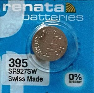 395 RENATA WATCH BATTERIES SR927SW New packaging Authorized Seller