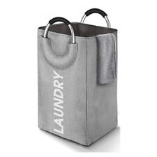 🔥 Collapsible Fabric Laundry Hamper Foldable Clothes Bag Washing Bin Basket