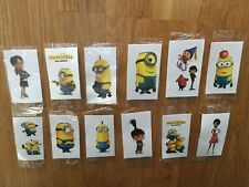 12 Minions TemporaryTattoo Individual Party Bag filler girls boys