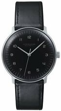 JUNGHANS German Watch Max Bill Automatic Black Dial Numerals Steel 027/3400.00
