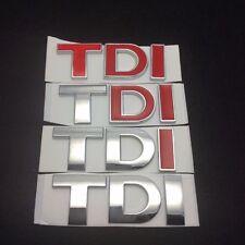 3D TDI Rear Boot Badge Car Emblem Logo Fits VW Volkswagen Sticker Decal Emblem