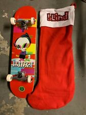 """Blind Skateboards Reaper Glitch First Push 7.75"""" Red w/ Stocking Complete Skate"""