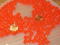 200 8MM ROUND FLUORESCENT RED FISHING BULK BEADS TACKLE RIG HOOK BEAD FISH RIGS