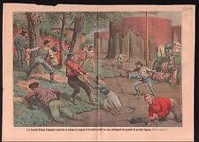 Molasses Flood Inondation Mélasse New Orleans Louisiana USA 1911 ILLUSTRATION