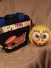 nickelodeon spongebob squarepants bowling ball and bag