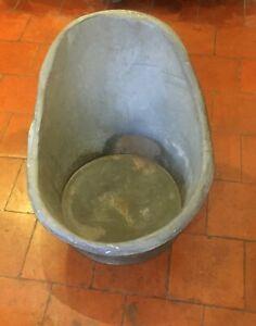 Galvanised Vintage hip bath ideal garden Planter