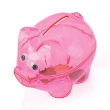 12 Translucent Pink Piggy Banks