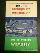 Birmingham City v Manchester City - 5th May 1956 - FA Cup Final Programme