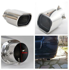 Silver Real Car Muffler Exhaust Tip Tail Pipe End Trim Durable Stainless Steel