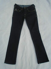 Diesel VIXY Ladies Slim Dark Wash Button Fly Jeans 27/32 8-10