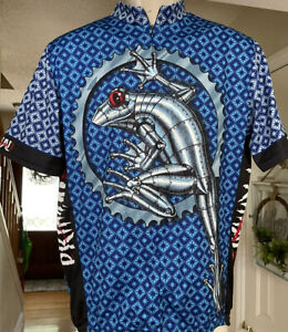 Primal Wear Men's Rivet Frog Knight Cycling Jersey Size XL 100% Coolmax