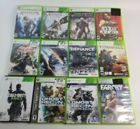 Xbox 360 Game Lot 12 Assassins Creed, Ghost Recon, Call of Duty, Farcry, Defianc