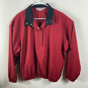 Bette & Court's Michelle McGann Women's Red Pullover Polyester Jacket - Size L
