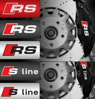 4 Pegatinas color blanco sticker brake caliper Audi S line Rs pinzas freno 8 cm