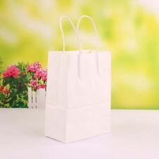 50 Pezzi Sacchetto Borsa Carta Kraft Wedding Bag Naturale Misura Media 27*21*11