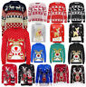CHRISTMAS JUMPER CHILDRENS XMAS KIDS BOYS GIRLS KNITTED RETRO NOVELTY B78