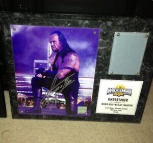Undertaker Wrestlemania 24 Signed Plaque, Edition 282 Of 500.