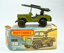 "Matchbox SF Nr.38C Armoured Jeep mit MG ""No.II Sleet'N'Snow"" Bodenplatte"