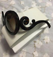 Authentic Prada Sunglasses Oversized Baroque Round Tortoise Frames