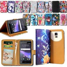 For Various HTC One SmatPhones - Leather Smart Stand Wallet Cover Case