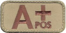 """A Positive Blood Type Hook & Loop Patch, 2"""" x 1"""""""