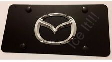 Mazda LICENSE PLATE MATTE BLACK Heavy Duty 1mm Thick With Bolts & Screws