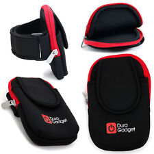 Black/Red Armband Case w/ Pockets for Mobile Phones, iPods, MP3 Players