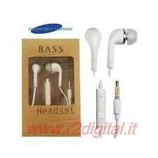 AURICOLARI MICROFONO NEW STEREO JACK 3,5 CUFFIE IPOD MP3 PC SMARTPHONE CELLULARE