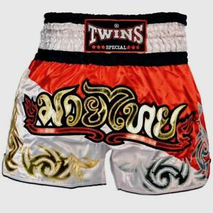 "Twins Special ""DUO RED WHITE"" Muay Thai Kickboxing Shorts"