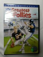 NFL Greatest Follies - Vol. 3 (NEW SEALED DVD, 2007) Football Bloopers