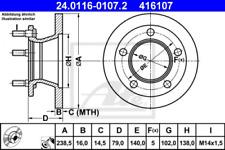 2x Bremsscheibe für Bremsanlage Vorderachse ATE 24.0116-0107.2