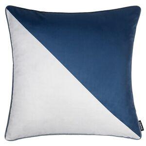 Modern Geometric Cushion Navy Blue Grey Throw Top Pillow Case Cover UK 45cm 18in