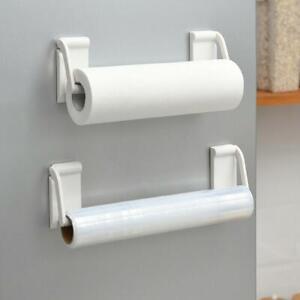 NEW Fridge Storage Towel Paper Roll Holder Cling Film Rack Shelf Magnetic