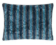 DESIGNERS GUILD HEMSLEY CUSHION 30CM X 40CM IN DENIM STRIPE RRP £55 CLEARANCE