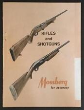 1963 Mossberg 22. Rifles & 12 - 16 - 20 - 410 guage Shotguns Magazine Catalog