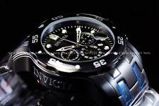Mens Invicta 48mm Pro Diver Scuba Military Combat BLACK Chrono Swiss Part Watch