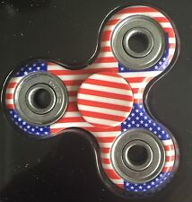 Lot of 5 USA Hand Spinner Fidget EDC Tri Toy Camo American Flag Red White Blue