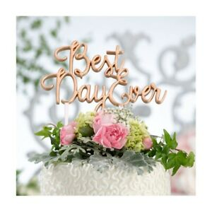 Wedding Cake Topper Best Day Ever Decorations Supplies