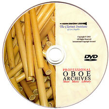 PROFESSIONAL OBOE SHEET MUSIC Archive DVD PDF