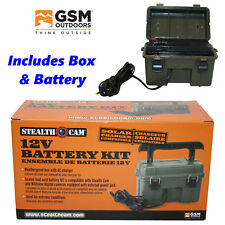 Stealth Cam Scouting Game Camera Cam 12V Battery Box with Power Cord AC 12VBB