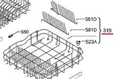Geschirrkorb Unterkorb Spülmaschine AEG 8090030050 Korb unten Geschirrspüler