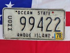 Plaque d'immatriculation Rhode Island 99422 US USA license plate