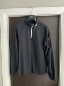 FootJoy Black Mens Chillout Pullover Top1/4 Zip - Athletic Fit Size Medium