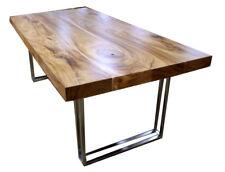 2x Piedi per tavolo, Gambe  tavolo metallo  finish nero bianco silver  desing