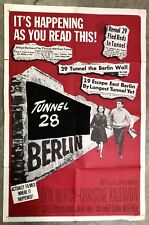 1962 ESCAPE FROM EAST BERLIN FOREIGN MOVIE THEATER POSTER NATIONAL SCREEN SERV