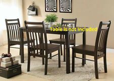 New Modern Dining Chairs Cappuccino Finish Casual Dining room Furniture Chair