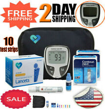 Glucometer Blood Sugar Monitoring Device Diabetic Test Glucose Kit Starter Pack✔