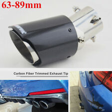 1pcs 63-89mm Straight Angle Adjustable Carbon Fiber Exhaust Pipe Muffler End Tip