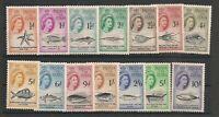 Tristan Da Cunha 1960 QEII Set Mint Hinged