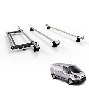 Roof Rack 3 bars for FORD TRANSIT CUSTOM VAN -TITAN WorkReady With Rear Roller